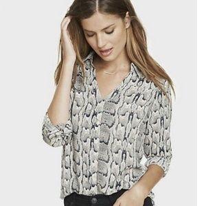 Express Snake Print Portofino Shirt M